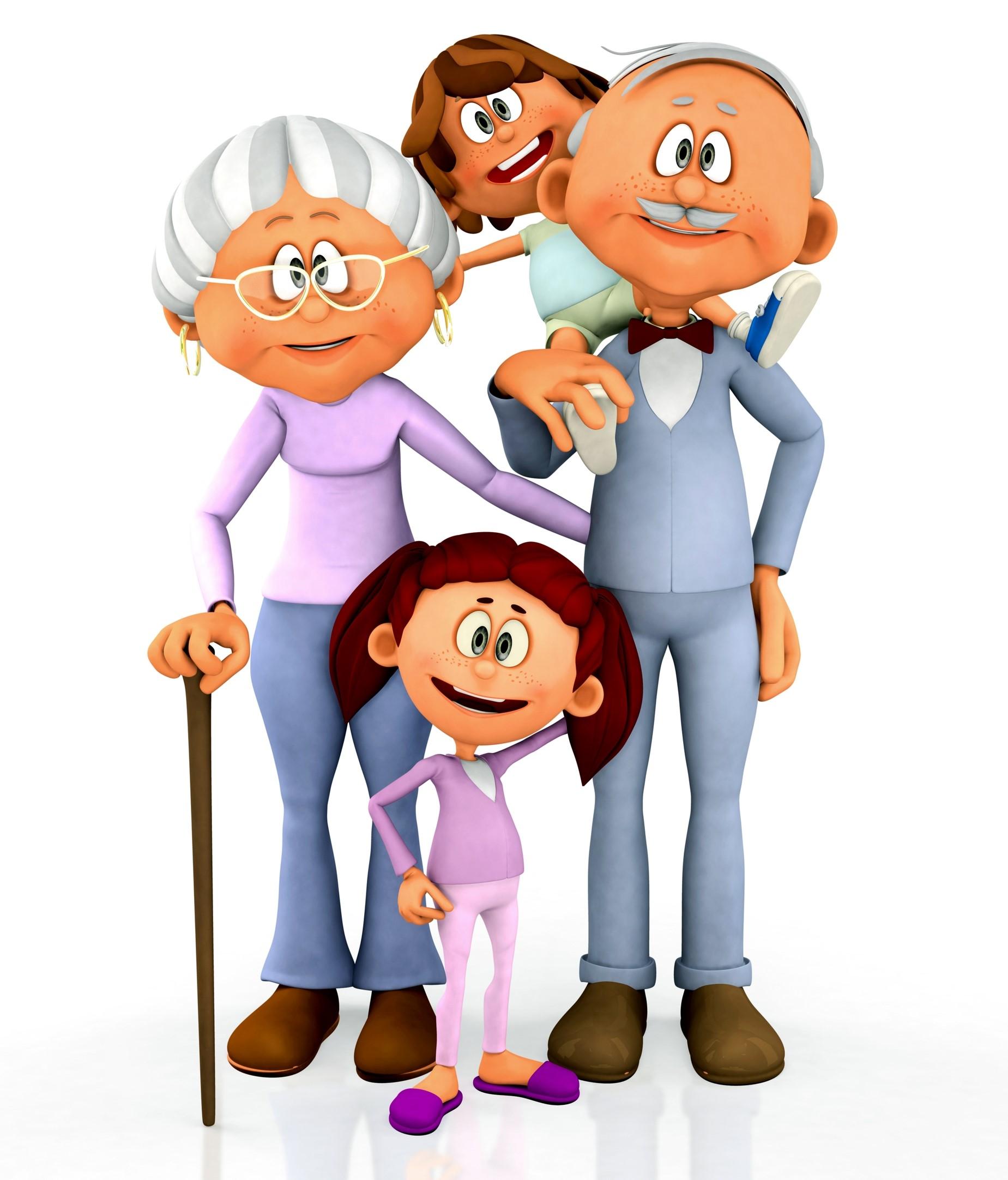 Прикольные картинки семьи мультяшные